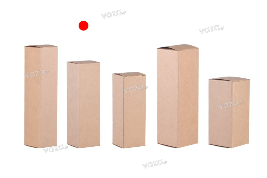 Κουτάκι χάρτινο κραφτ οικολογικό 38x38x130 - 20 τμχ