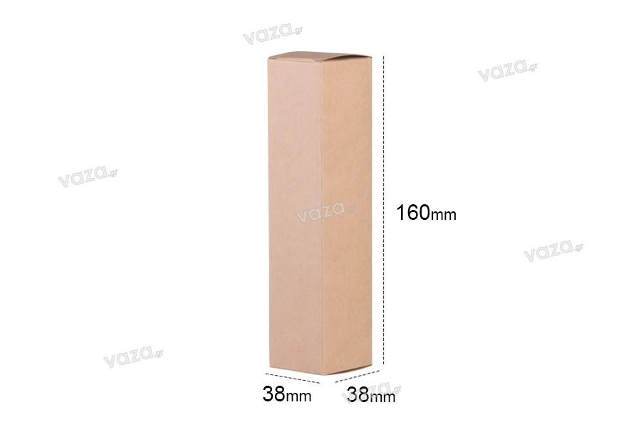 Κουτάκι χάρτινο κραφτ οικολογικό 38x38x160 - 20 τμχ