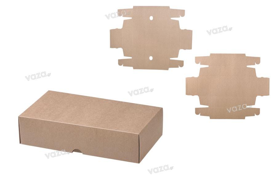 Κουτί συσκευασίας από χαρτί κραφτ χωρίς παράθυρο 240x130x60mm - 12 τμχ