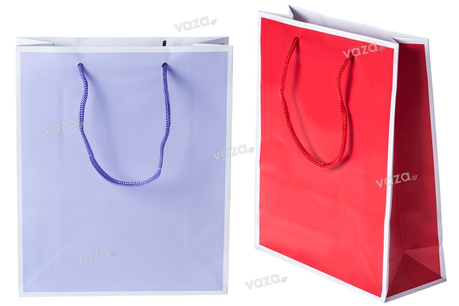 Τσάντα δώρου χάρτινη σε 2 χρώματα 200x80x240