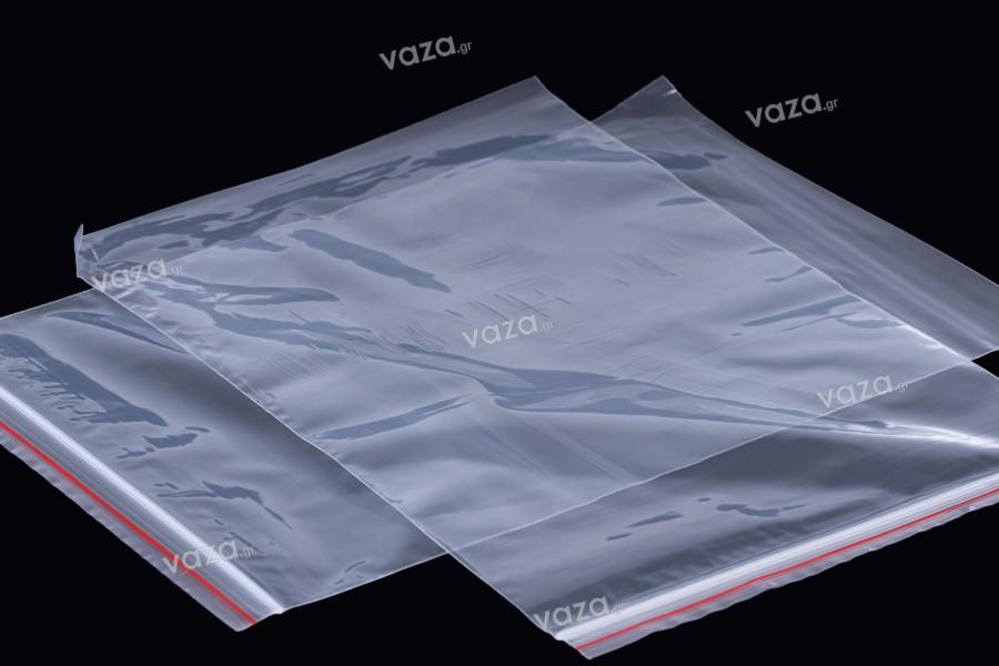 Σακουλάκια διαφανή με κλείσιμο zip 16x24 cm - 100 τμχ