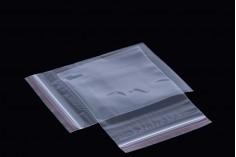 Σακουλάκια διαφανή με κλείσιμο zip 9x13 cm - 500 τμχ