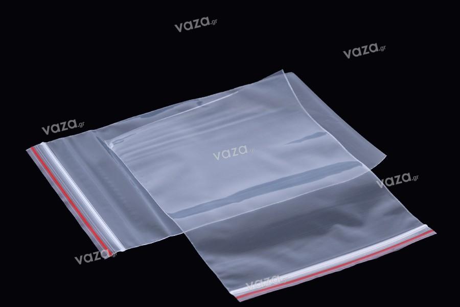 Σακουλάκια διαφανή με κλείσιμο zip 10x15 cm - 500 τμχ
