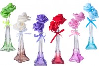 Scented space flower bottle glass Eiffel