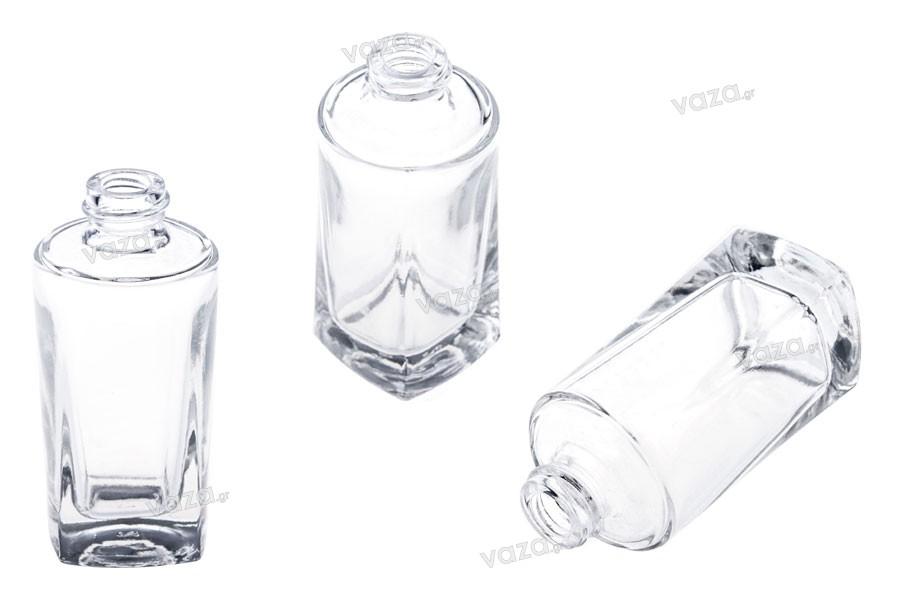 Μπουκαλάκι γυάλινο για κρέμα 30 ml με αντλία μαύρη ή κόκκινη και διάφανο πλαστικό καπάκι