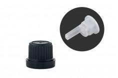 Καπάκι πλαστικό ασφαλείας PP18 φαρδύ με εσωτερικό σταγονομετρή 22mm