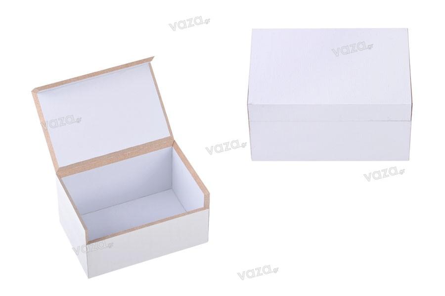 Κουτάκι ξύλινο πολλαπλών χρήσεων 75x50x40 άσπρο