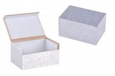 Κουτάκι ξύλινο πολλαπλών χρήσεων 75x50x40 ασημί