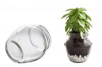 Βαζάκι γλαστράκι για μπομπονιέρα γάμου & βάπτισης 580 ml *