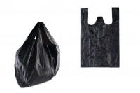 Sac en plastique 26x40 cm noir – pack de 100 pièces