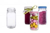 Βαζάκι γυάλινο κυλινδρικό 99 ml για γλυκά και κουφέτα