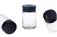 Μικρό κλασικό βαζo για μπαχαρικά 156 ml με καπάκι με οπές και κόσκινο *