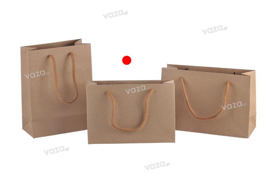 Τσάντα δώρου κραφτ οικολογικό με βαμβακερό κορδόνι 190x60x130