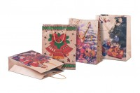 Sac d' emballage pour cadeaux de Noël avec cordon 190x80x240 en 4 dessins