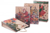 Sac d' emballage pour cadeaux de Noël avec cordon 240x80x330 en 4 dessins