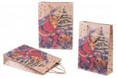 Χριστουγεννιάτικη τσάντα δώρου με κορδόνι 240x80x330 σε διαφορετικά σχέδια