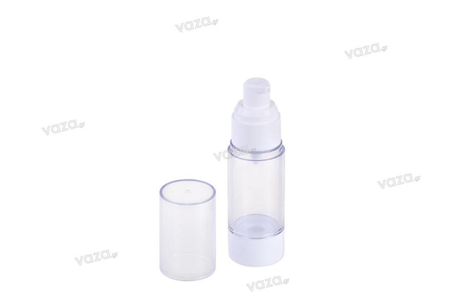 Μπουκάλι πλαστικό Airless για κρέμα διάφανο 30 ml