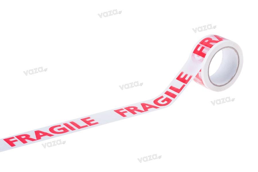 Ταινίες εύθραυστον (fragile) προτυπωμένες πλάτος 48 mm - Ένα τεμάχιο 75 μέτρων