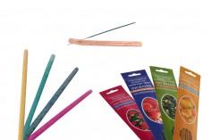 Σετ bamboo sticks σε 4 φυσικά αρώματα φυτών ή φρούτων και ξύλινη βάση