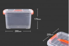Κουτί αποθήκευσης πλαστικό διάφανο 290x205x170