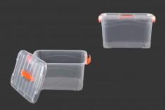 Κουτί αποθήκευσης πλαστικό διάφανο 350x245x195