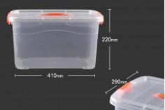 Κουτί αποθήκευσης πλαστικό διάφανο 410x290x220