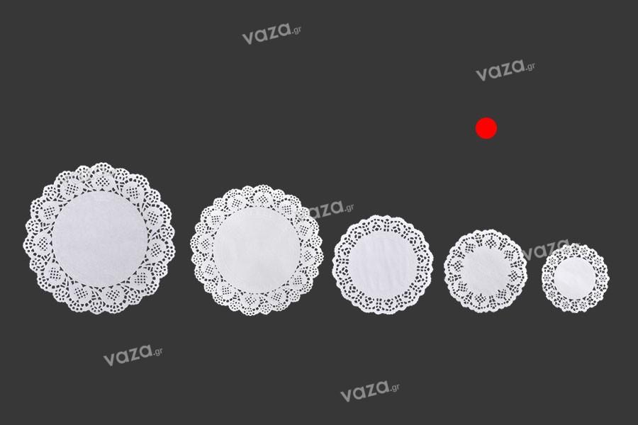 Πανάκια για βαζάκια χάρτινα δαντελωτά σε λευκό χρώμα 114 mm - 100 τμχ