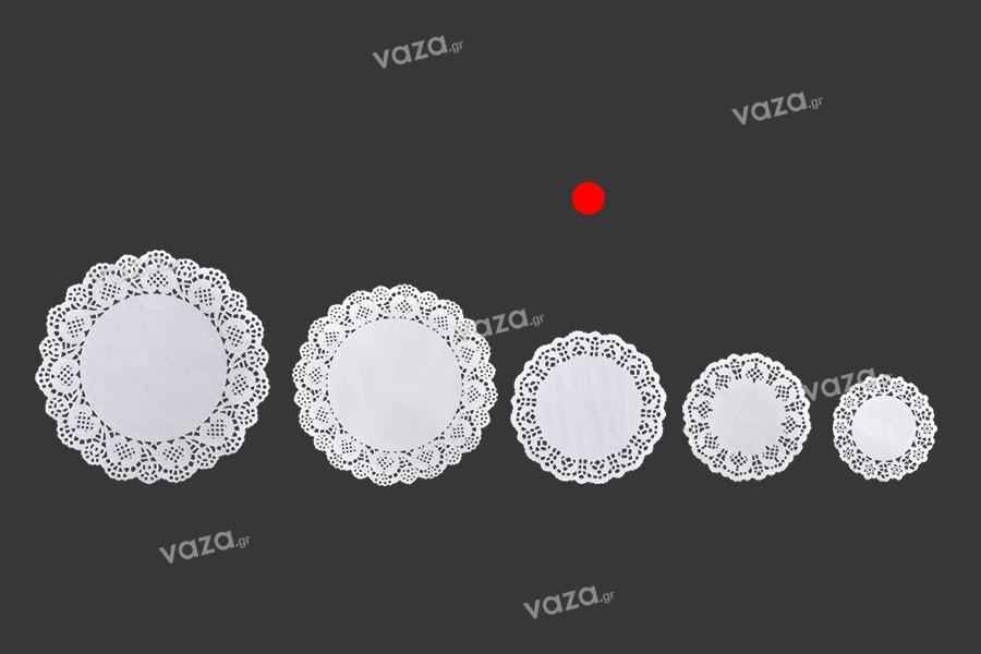 Πανάκια για βαζάκια χάρτινα δαντελωτά σε λευκό χρώμα 140 mm - 100 τμχ
