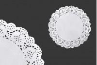 Πανάκια για βαζάκια χάρτινα δαντελωτά σε λευκό χρώμα 165 mm - 100 τμχ