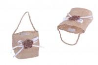 Pochettes décoratives faits à la main pour bonbonnières 62x44x70 mm - 12 pièces/pack