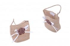 Μπομπονιέρες πουγκάκια χειροποίητα 62x44x70 mm - 12 τμχ