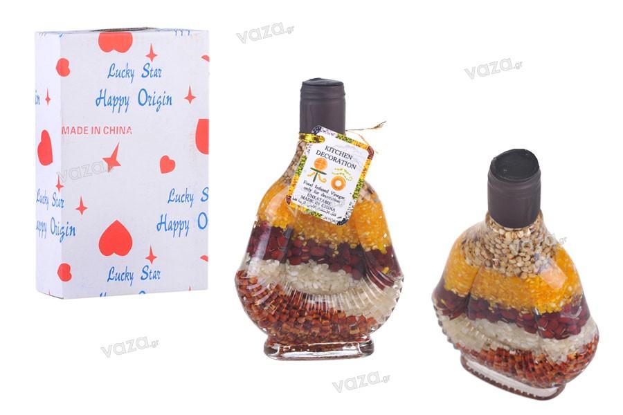 Bottiglia di vetro con frutta diversa per cucina decorazione-130 ml