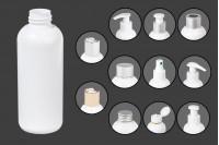 Bouteille en plastique 150 ml blanche PP24