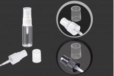 Μπουκάλι πλαστικό 15 ml διάφανο με στόμιο PP 18