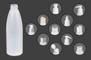 Bouteille en plastique translucide 200 ml PP24
