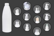 Bouteille en plastique 200 ml blanche PP24