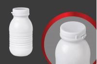 Μπουκάλι λευκό πλαστικό 250 ml για γάλα η χυμό 63x124 mm