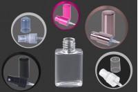 Μπουκάλι πλαστικό πλακέ τετράγωνο 30 ml με στόμιο PP 18