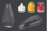 Μπουκάλι πλαστικό διάφανο 370 ml για κέτσαπ, μουστάρδα, μέλι
