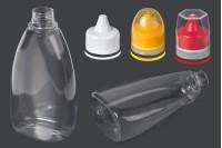 Μπουκάλι πλαστικό διάφανο 715 ml για κέτσαπ, μουστάρδα ή μέλι