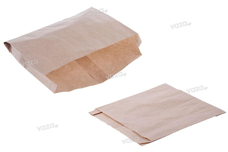 Σακούλα κραφτ καφέ διάστασης 200x40x200 χωρίς παράθυρο - 100 τμχ