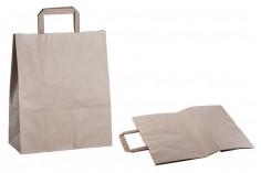 Σακούλα χάρτινη με χερούλι σε γήινο χρώμα και διαστάσεις 280x120x330 mm - 25 τμχ