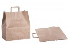 Σακούλα χάρτινη με χερούλι σε γήινο χρώμα και διαστάσεις 320x160x360 mm - 25 τμχ