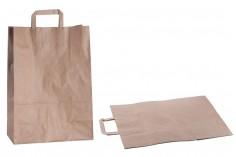 Σακούλα χάρτινη με χερούλι σε γήινο χρώμα και διαστάσεις 320x160x450 mm - 50 τμχ