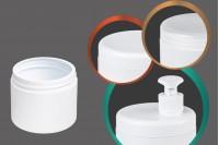 Βαζάκι πλαστικό 500 ml λευκό ή διάφανο χωρίς καπάκι
