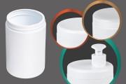 Βαζάκι πλαστικό λευκό 1000 ml