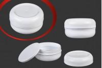 Βαζάκι πλαστικό λευκό 50 ml με παρέμβυσμα