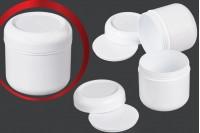 Βαζάκι πλαστικό λευκό 100 ml με παρέμβυσμα