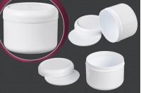 Βαζάκι πλαστικό λευκό 250 ml με παρέμβυσμα