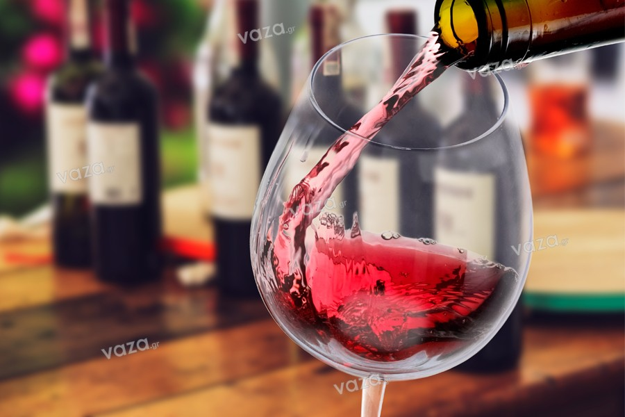 Red wine glass 250x80 mm